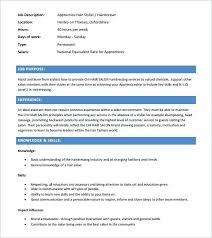resume exles for hairstylist hairdresser resume sle salon resume apprentice hairdresser cv