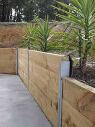 retaining wall timber google search landscape pinterest