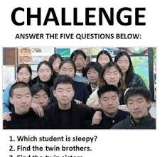 Challenge Asian Challenge Answer The Five Questions Below By Mustapan Meme Center