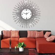 diamante style wall clocks home decor mute numbers clock ornament