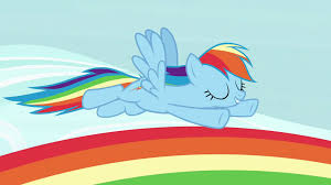 image rainbow dash flying over a rainbow s7e14 png my little