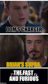 Fast And The Furious Meme - marvel civil war 1 meme imgflip