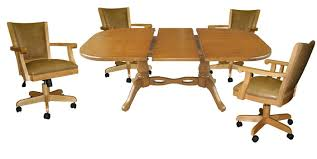 Kitchen Table With Caster Chairs Dinette Sets Dining Room Furniture Dinettes