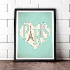 vintage letterpress etsy paris poster typographic print eiffel