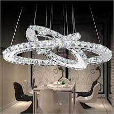 Chandeliers Led Free Shipping Fashion Led Ls 3 Ring Stainless Steel K9