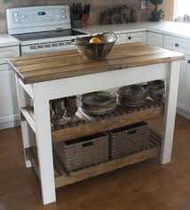 red oak wood autumn raised door kitchen island with butcher block