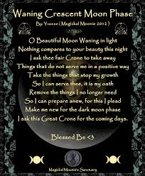 waning crescent magickal moonie s sanctuary poem by wicca yvonne