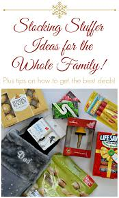 Ideas For Stocking Stuffers Stocking Stuffer Ideas For The Whole Family Plus How To Save Lots