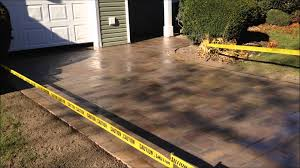Sealing A Paver Patio by Driveway With Wet Look Sealer Fine Design Landscaping Long