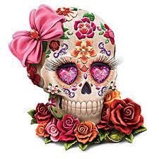 amora sugar skull figurine by margaret le