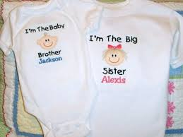 Customized Baby Big Brother Big Sister Custom Clothing Welcome Baby