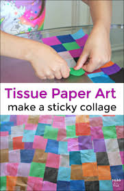 tissue paper crafts mess for less