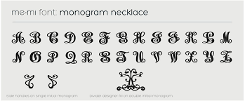 Single Initial Monogram Necklace Micallef Jewellers Triple Monogram