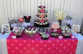 Pink And Black Minnie Mouse Decorations Minnie Mouse Party Ideas Design Dazzle