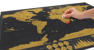 Personalized World Map by Scratch Map Deluxe Poster World Map To Scratch And Accessories