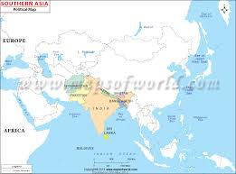 regional map of asia south asia map map of south asian countries