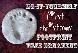 diy baby footprint tree ornament domestic