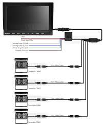 car monitor wiring diagram 4 3 quot tft lcd monitor mirror