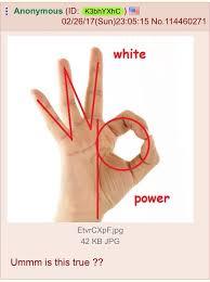 White Power Meme - white power ok symbol know your meme