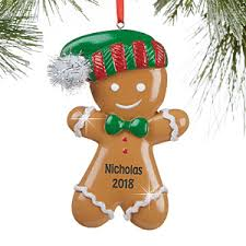 gingerbread ornaments personalized christmas ornaments gingerbread boy