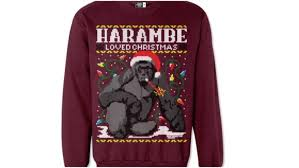 harambe gorilla ugly holiday sweater how to buy price