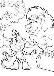 boots monkey lion dora explorer coloring animal