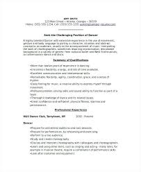 Musician Resume Template Sample Music Resume For College Application Free Sample Dancer