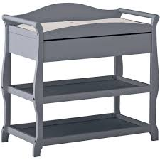Rails Change Table Storkcraft Aspen Changing Table With Drawer Cherry Walmart