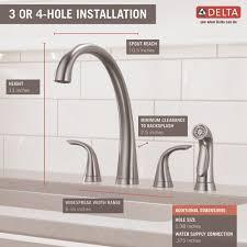 reach kitchen faucet delta faucet 2480 dst pilar polished chrome two handle with