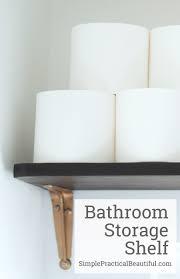 Bathroom Storage Shelves by Bathroom Storage Shelf Simple Practical Beautiful