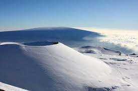 snow blankets mauna kea and mauna loa on the big island of hawaii