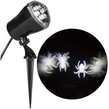 lightshow whirl a motion spiders white projection spotlight 59459