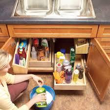 sink kitchen cabinet organizer undersink storage