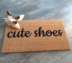 doormat funny cute shoes doormat hand painted outdoor welcome mat cute