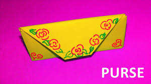 origami for kids how to make a paper purse educational video