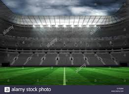 how tall are football stadium lights large empty football stadium with lights stock photo royalty free