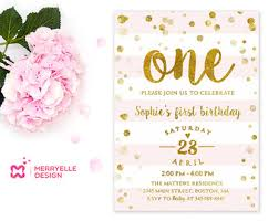 floral first birthday invitations 1st birthday invite