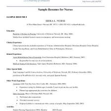 exle of resume for nurses sle resume nursing student no experience fresh healthcare