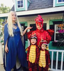 family halloween costumes for 3 daenerys and dragons halloween costumes for families popsugar moms
