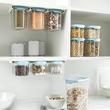kitchen food storage cupboard cupboard store food storage set of 3 900ml light opal