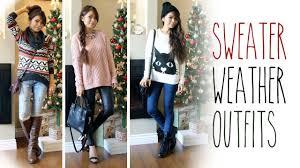 sweater weather ideas fall fashion lookbook