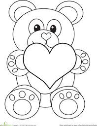 valentine u0027s day bear worksheet education com