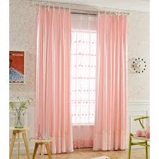 Patterned Window Curtains Pink Print Patterned Faux Silk Elegant Pinch Pleated Window Curtains