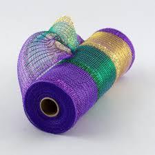 mardi gras mesh 10 poly deco tinsel mesh mardi gras stripe ry840173