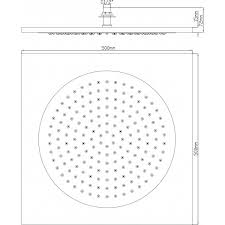 Flush Ceiling Shower Head by Hudson Reed Ceiling Tile Square Fixed Shower Head 500mm X 500mm Chro