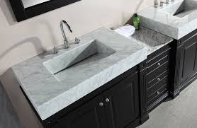 Vanity Countertops With Sink Design Element Odyssey Double Trough Style Sink Vanity Set 90