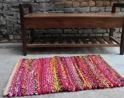 small rag rug etsy