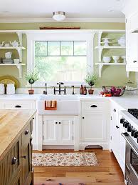 White Kitchen Decorating Ideas Photos Kitchen Cottage Kitchens Country Small Kitchen Decorating