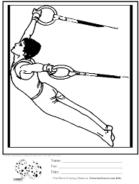 olympic gymnastics rings coloring page kids activities