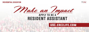 Resident Assistant Resume Ra Position Description Residential Education At Usc